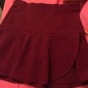 Charlotte Russe bodycon flare skirt!